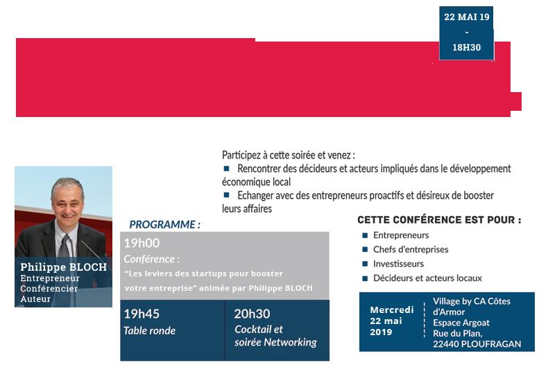 Conférence Philippe BLOCH : Les leviers des startups pour booster votre entreprise